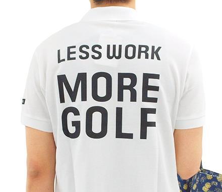 パーリーゲイツ 半袖トップス ゴルフウェアメンズ 背中にメッセージ★LWMGポロ
