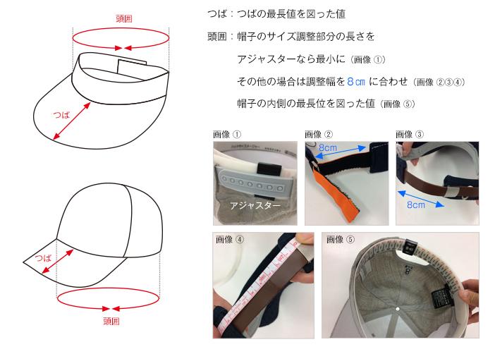 ゴルフウェアのヘッドウェアの測り方